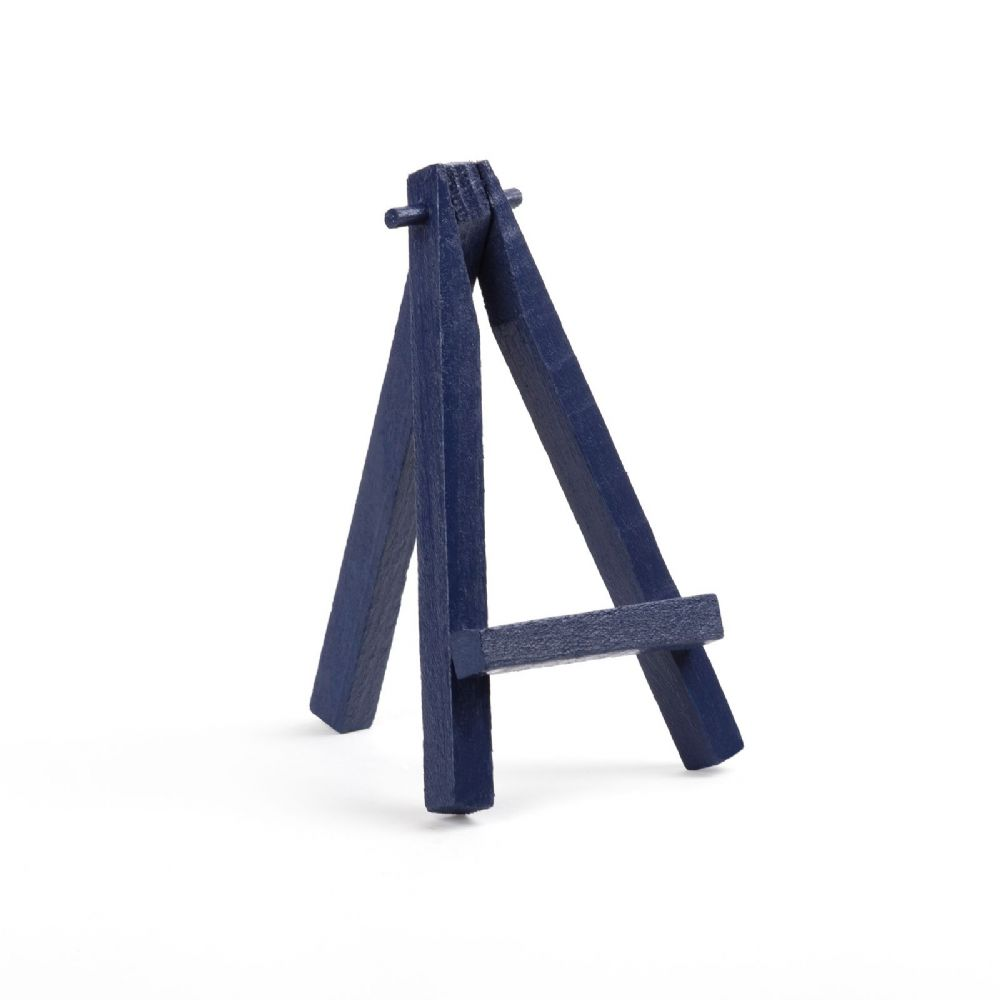 "Navy Blue Colour Mini Easel 5"" - Beech Wood"